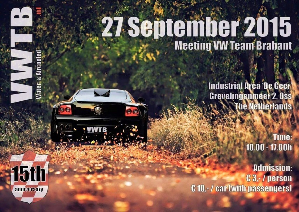 Flyer VW Team Brabant - 15th Anniversary meeting